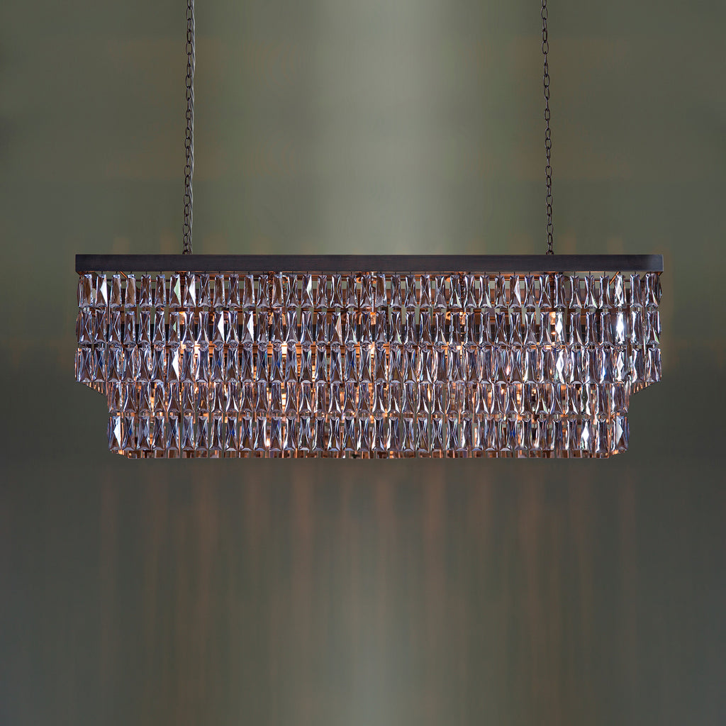Rectangular Chandelier with Crystal