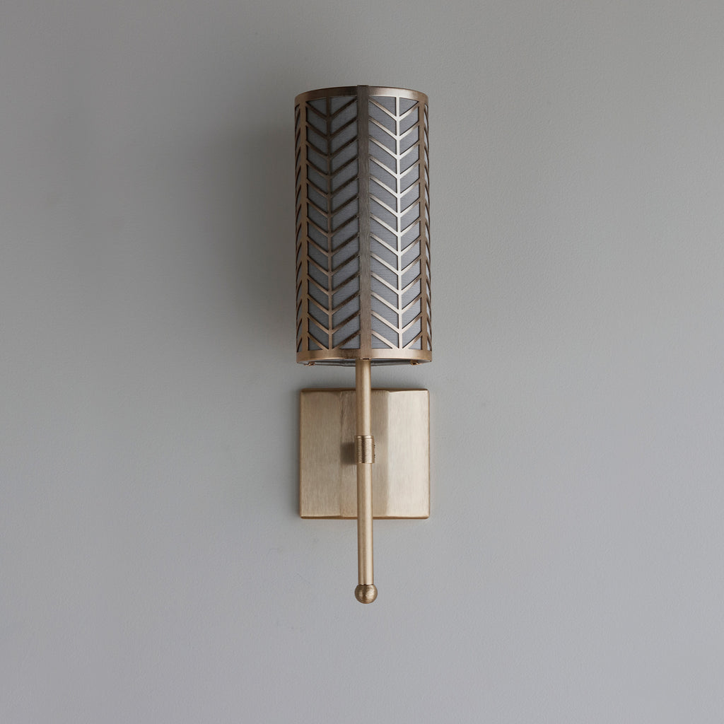 Stem Single Wall Light with Lattice