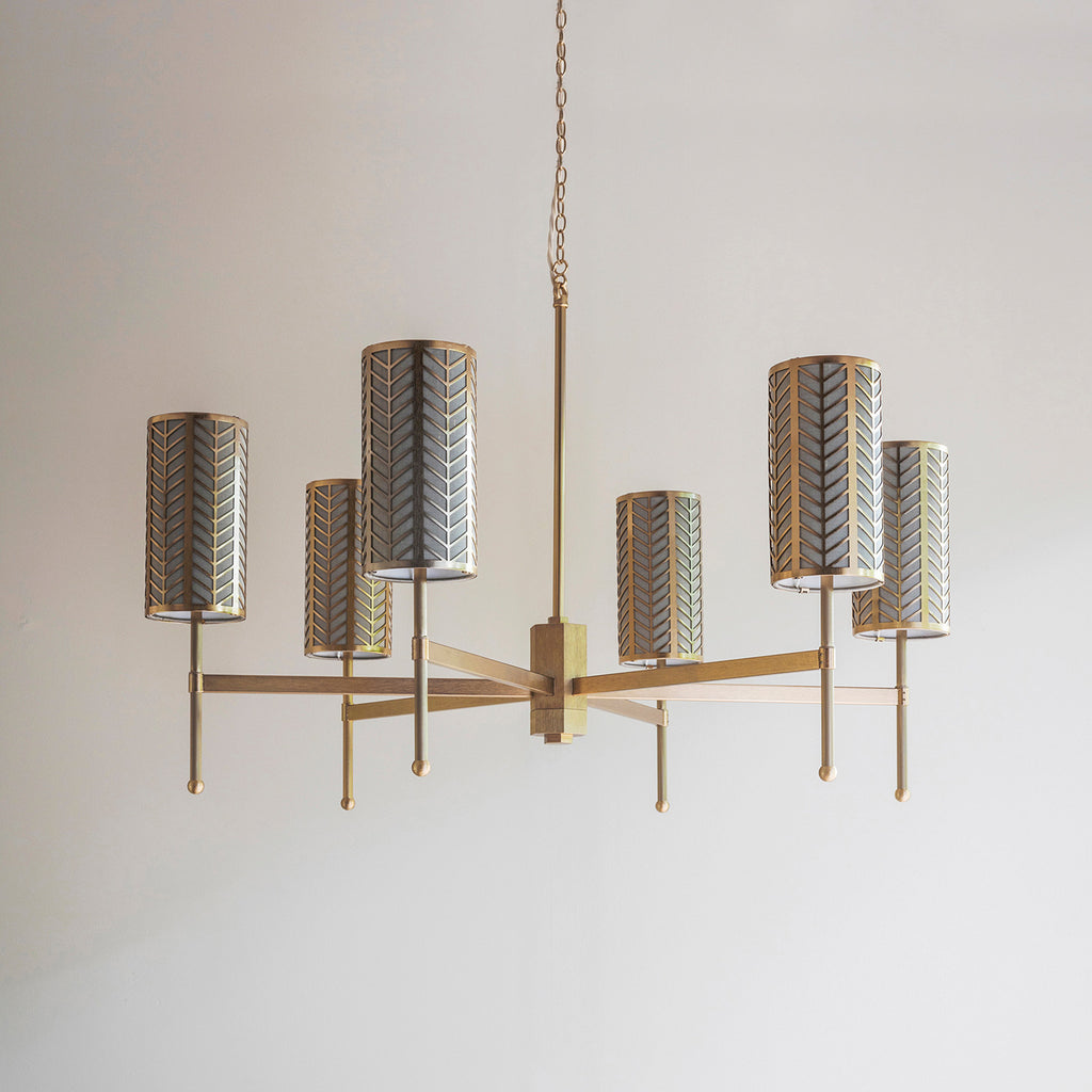 Stem Chandelier with Lattice