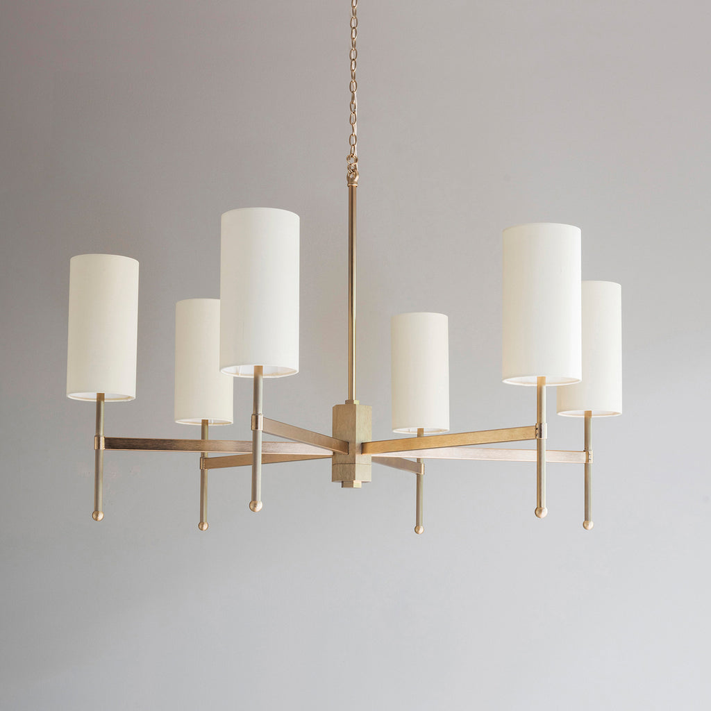 Stem Chandelier with Silk