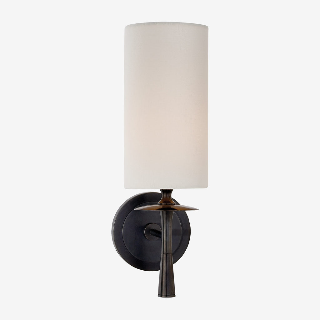 Drunmore Single Sconce with Linen Shade