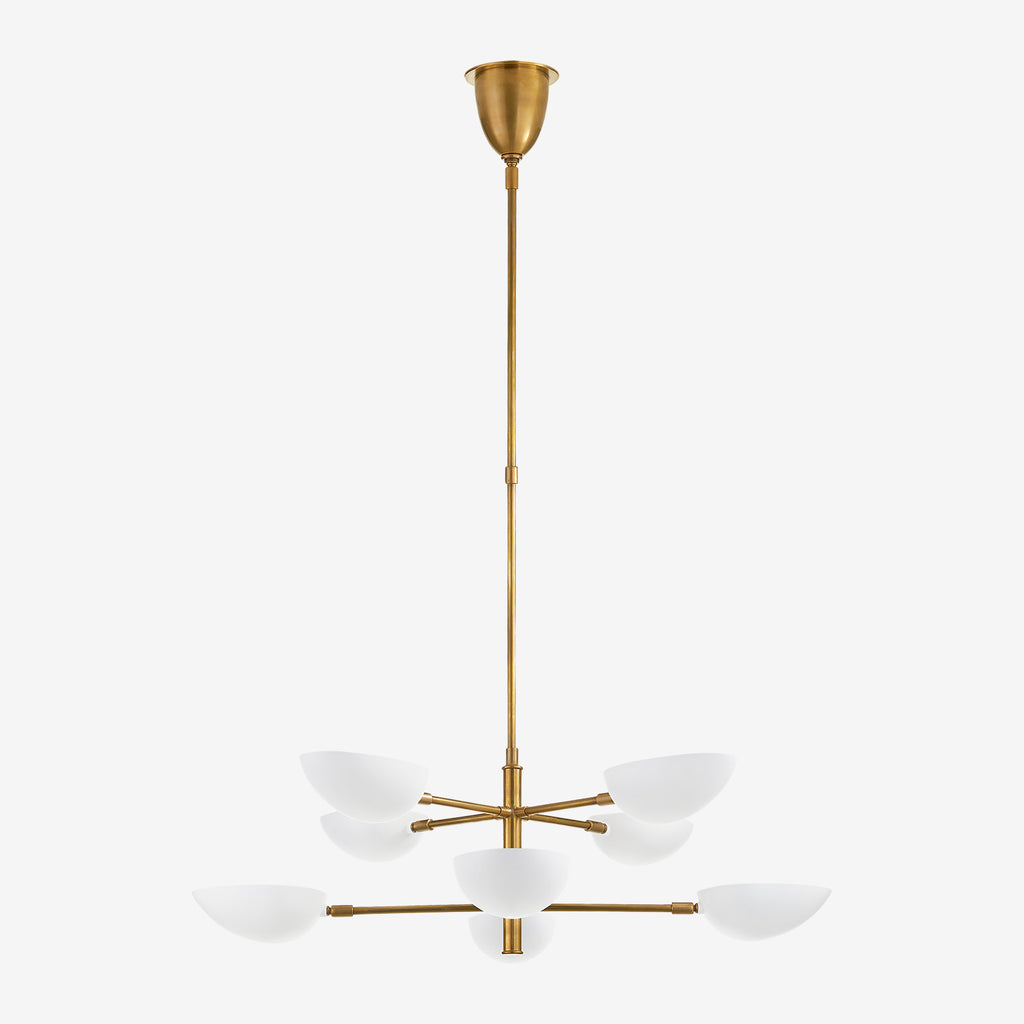 Graphic Two-Tier Chandelier