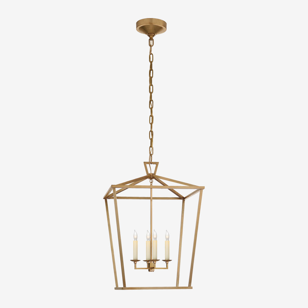 Darlana Medium Lantern (Solid Brass Finish)