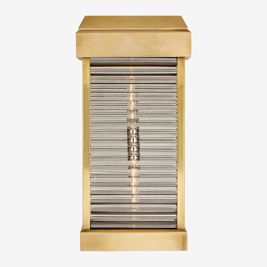 Dunmore Curved Glass Louvre Sconce
