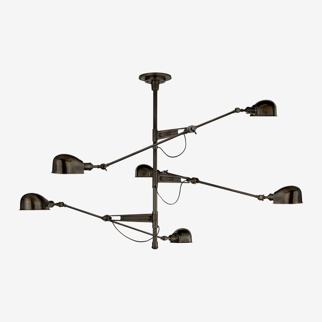 RL '67 Triple Arm Chandelier