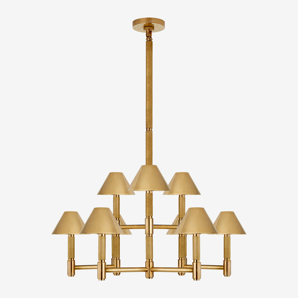 Barrett Medium Knurled Chandelier (with Shades)