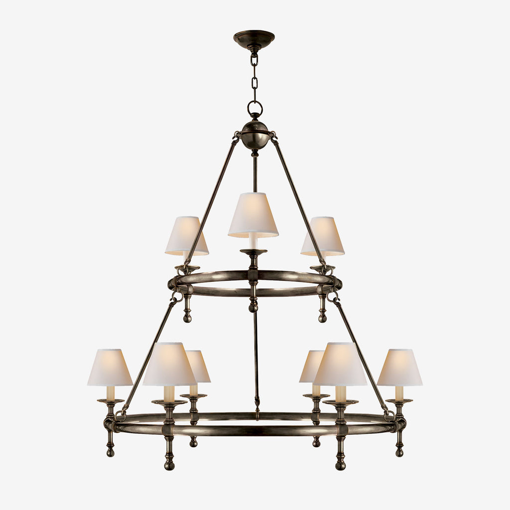 Classic Ring Two-Tier Chandelier