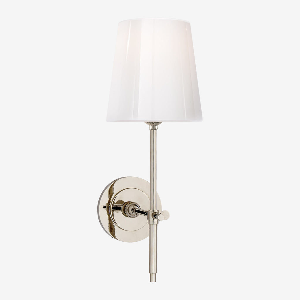 Bryant Sconce with White Glass Shade
