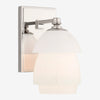 Whitman Sconce with White Glass