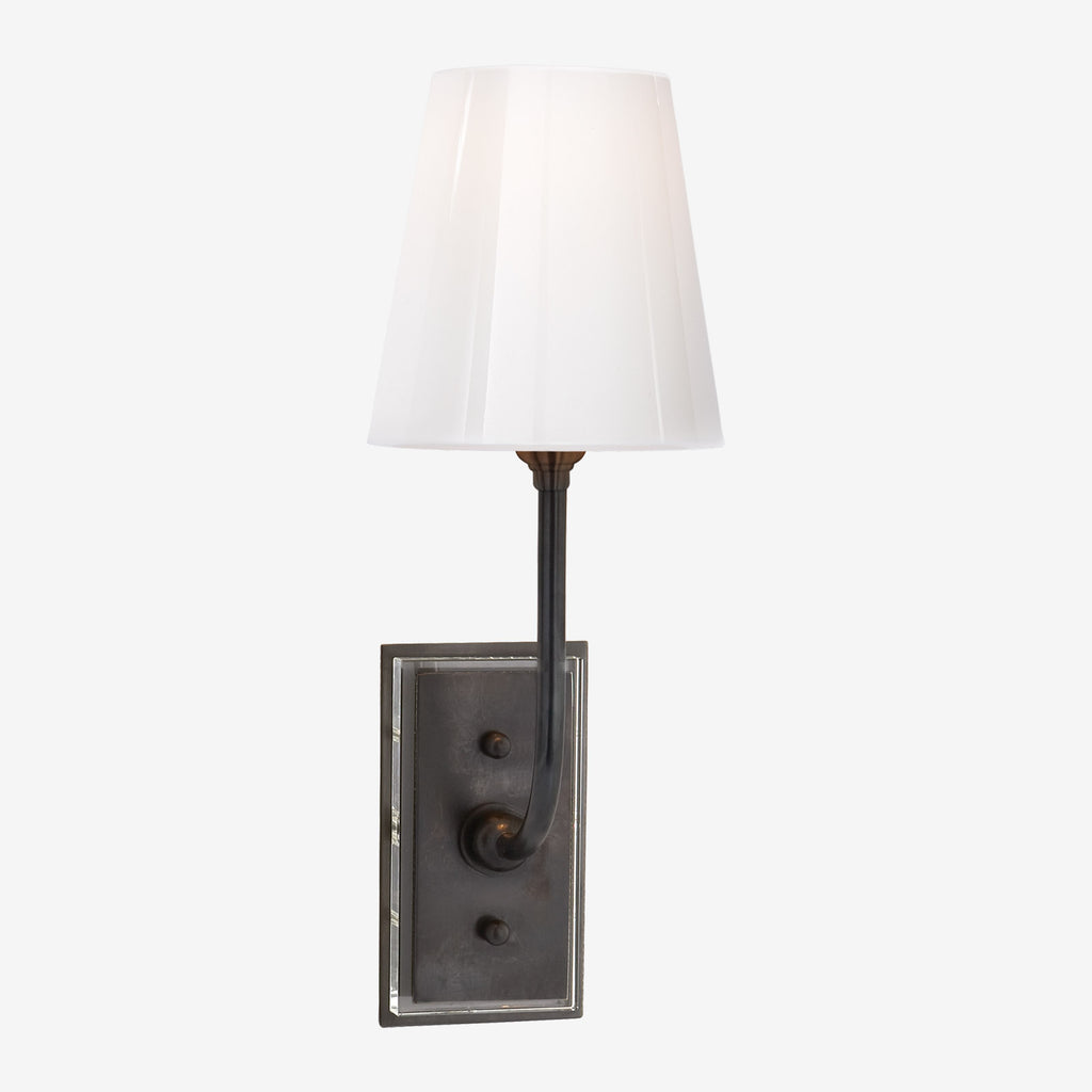 Hulton Sconce with White Glass