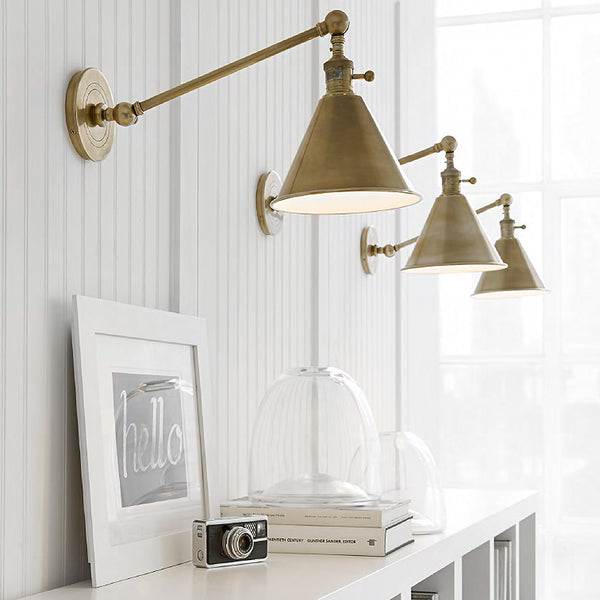 Boston Functional Single Arm Library Light The Montauk