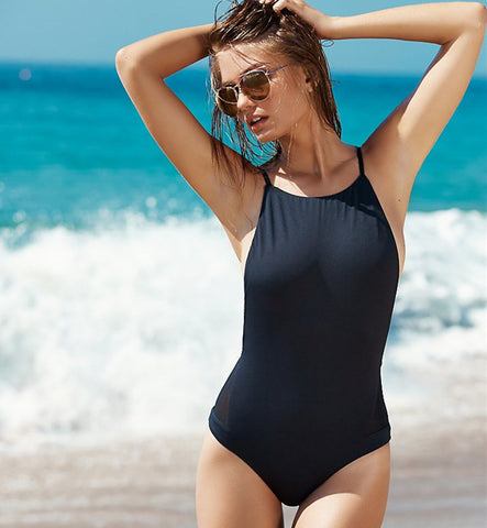 Simple Open Sided Swimsuit (S-XL) - Juicy Beach Wear