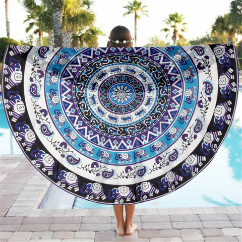Bold Bohemian Patterned Circle Beach Throw - Juicy Beach Wear