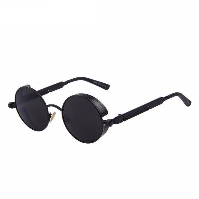 Vintage Steampunk Style Sunglasses (Black/Black) - Juicy Beach Wear