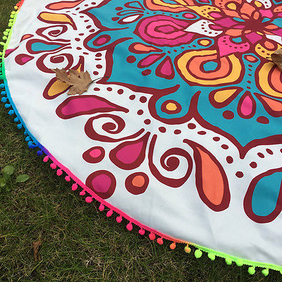 Vibrant Mandala Beach Blanket - Juicy Beach Wear