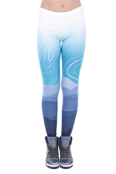 Abstract Mountains Full Length Leggings - Juicy Beach Wear