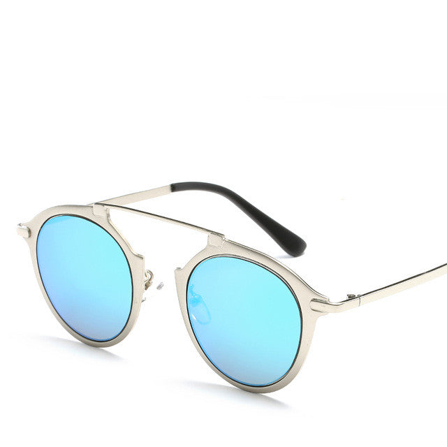 Vintage Spectacle Style Metal Sunglasses - Juicy Beach Wear