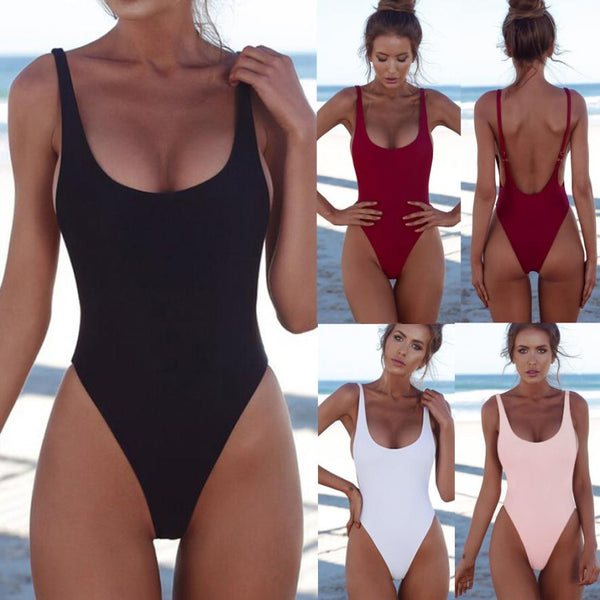 Classic Mid-cut 1 Piece Bathing Suit - Juicy Beach Wear