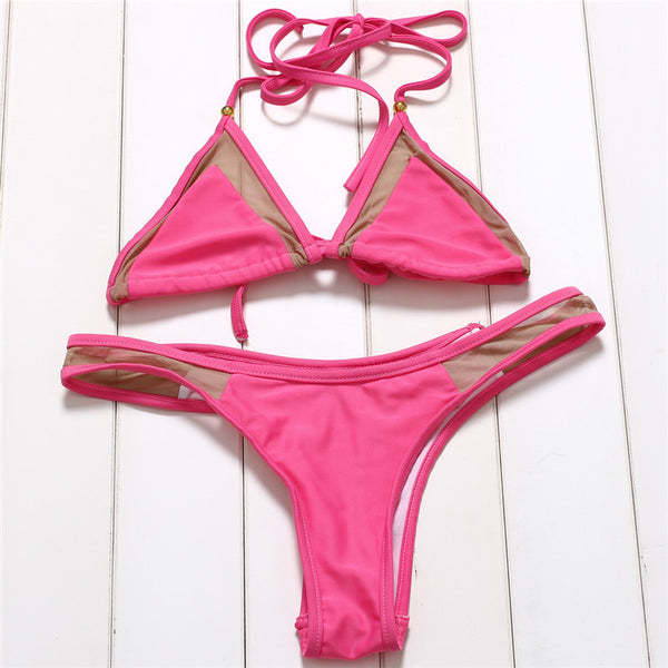 Sexy Thin 2 Piece Bikini Set - Juicy Beach Wear