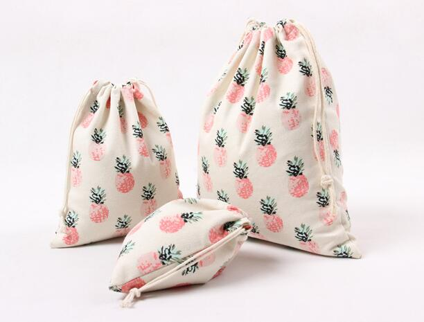 Patterned Cotton Drawstring Beach Bag (Various sizes) - Juicy Beach Wear