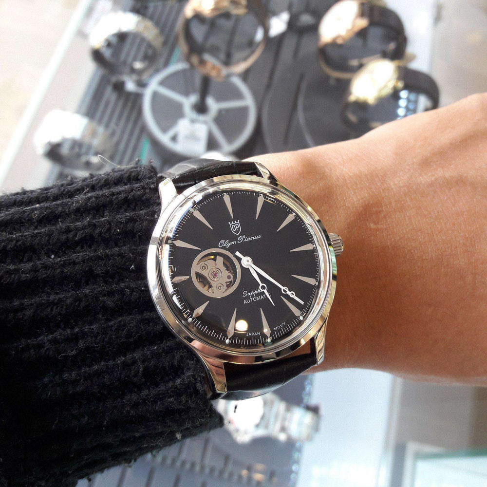 Đồng Hồ Nam Olym Pianus OP99141-71AGS-GL Automatic Dây Da Size 41 Mm