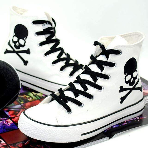 Put Your Scary Foot Forward With Your Cool Skull Shoes!