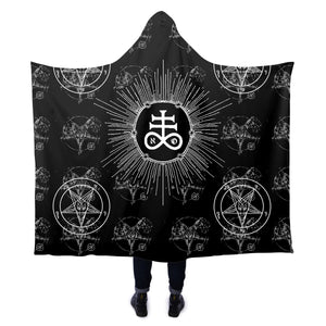 The Leviathan's Cross Hooded Blanket