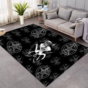 The Baphomet Satanic Area Rugs