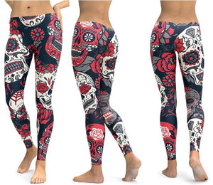 Skulls Leggings For Women - 17 Styles