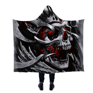 Skull King Hooded Blanket