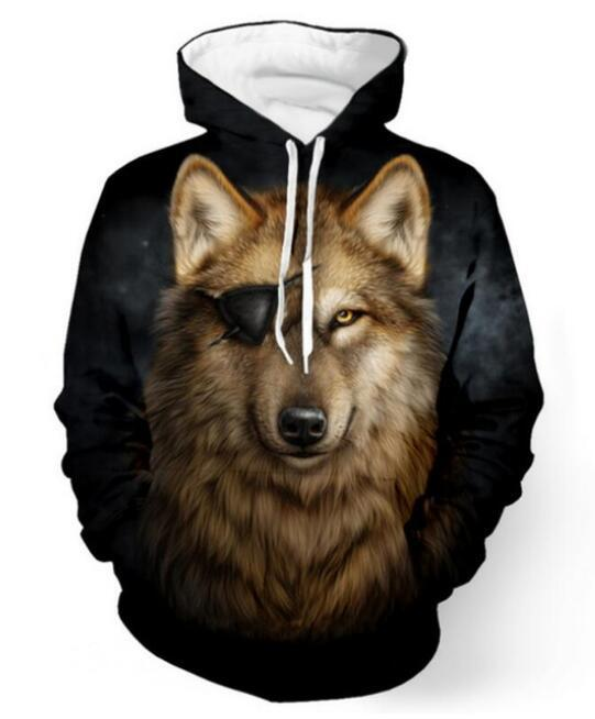 Pirate Wolf Hoodie