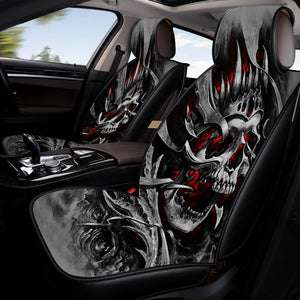 Skull King Car Seat Covers
