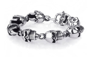 Bracelet Stainless Steel Skeleton Skull