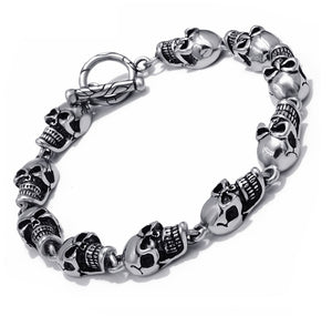 Bracelet Stainless Steel Skull Ghost