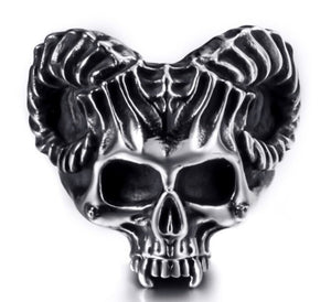 Ring Stainless Steel Satan Demon Devil Skull