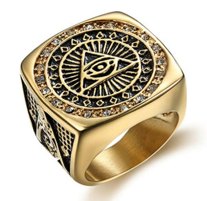 Ring Stainless Steel Illuminati The All-seeing-eye
