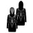 Pentagram Baphomet Goat Head Skull Satanic Hooded Dress
