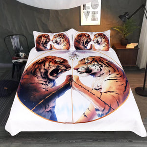 Peace by JoJosArt Two Tigers Bedding Set