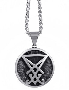Pendant Necklace Stainless Steel Sigil of Lucifer Seal of Satan