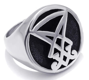 Ring Stainless Steel Sigil of Lucifer