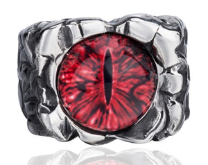 Ring Stainless Steel The devil's Eye of Hell Demon