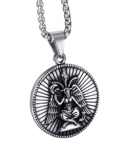 Pendant Necklace Stainless Steel Baphomet Goat Satanic