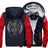 Goat Skull Head Fleece Zipper Jacket