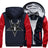 Pentagram Baphomet Goat Head Skull Satanic Fleece Zipper Jacket