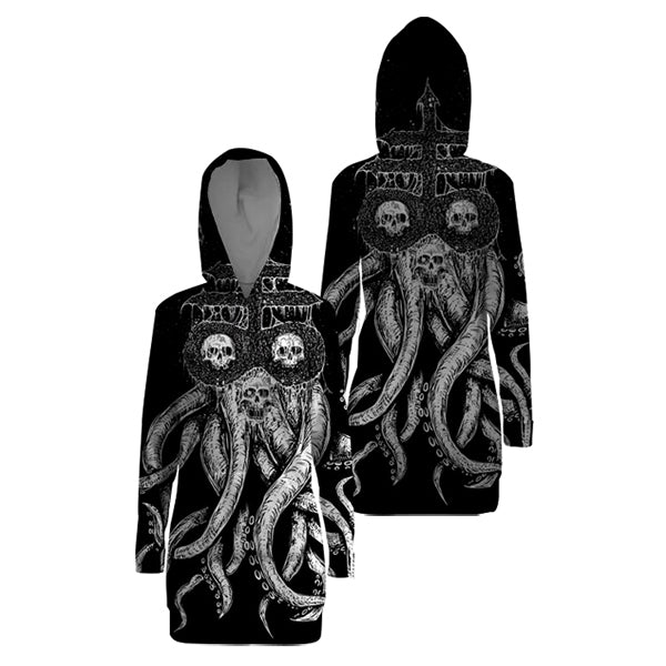 Skull with Octopus Hooded Dress