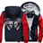 Evil Satanic Skull Fleece Zipper Jacket