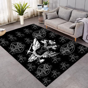"The Sigil of Lucifer (""Seal of Satan"") Area Rugs"