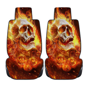 Fire Skull Car Seat Covers