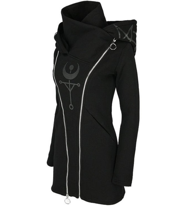 Gothic Zipper Hoodie For Women