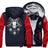 Goat Skull Head Satanic Fleece Zipper Jacket